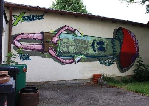Mushroom Street Art | Location unknown