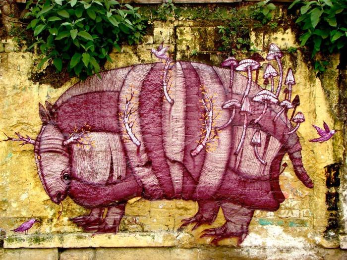 Mushroom Street Art | Mexico City, Mexico