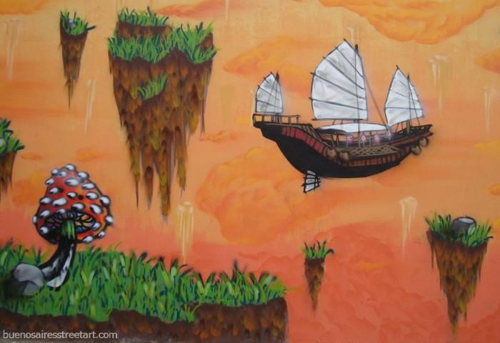 Mushroom Street Art | Buenos Aires, Argentina