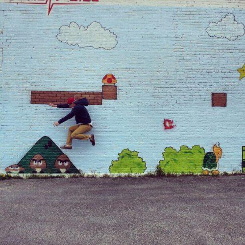 Mushroom Street Art | 1 Up