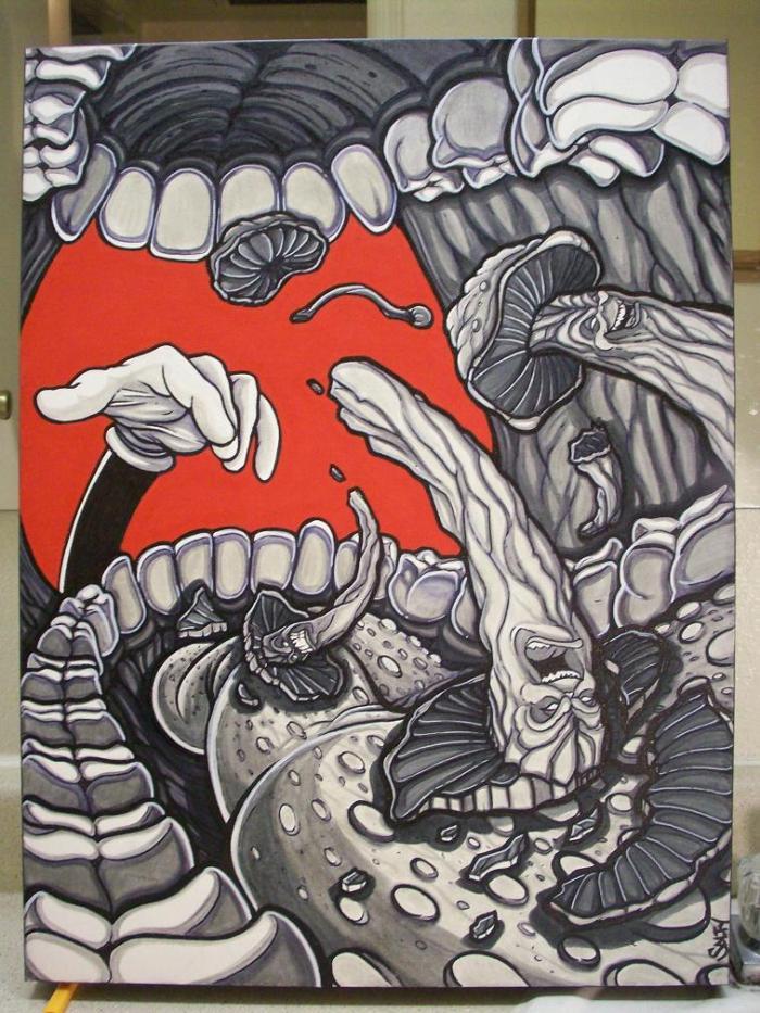 Mushroom Street Art | by saltybastard