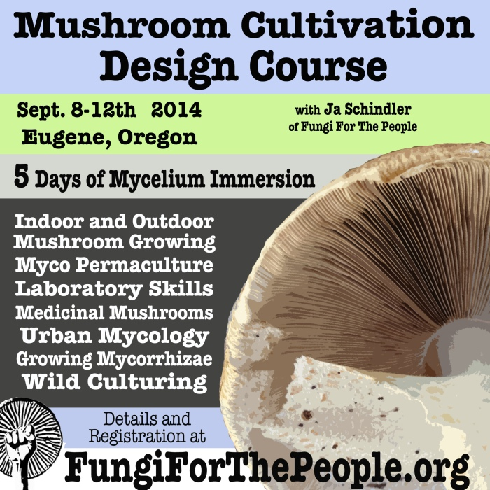 Mushroom Cultivation Design Course just announced for September 2014